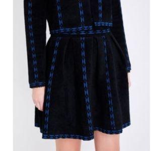 Maje Jerome geometric Trim twoelling Skirt